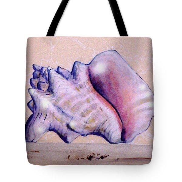 Trompe L'oeil Conch Shell Tote Bag
