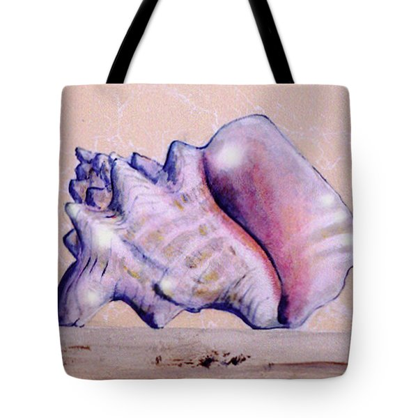 Trompe L'oeil Conch Shell Tote Bag