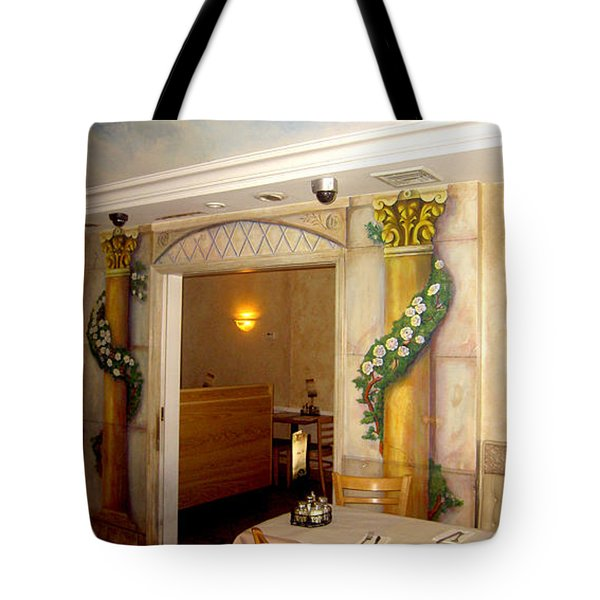 Tote Bag featuring the painting Trompe L'oeil Entryway by Thomas Lupari