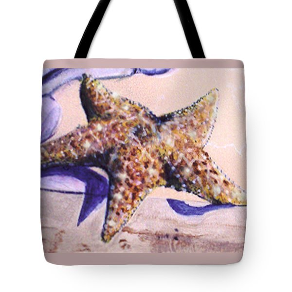 Trompe L'oeil Star Fish Tote Bag