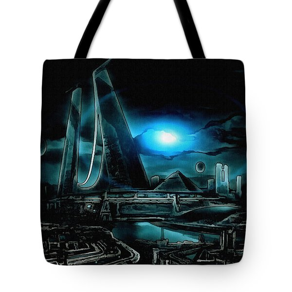 Tron Revisited Tote Bag