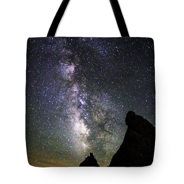 Trona Pinnacles Milky Way Tote Bag