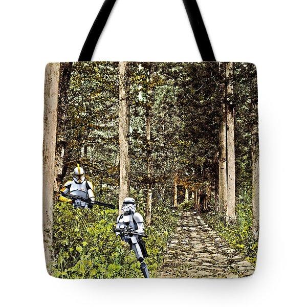Troopers On The Planet Tote Bag