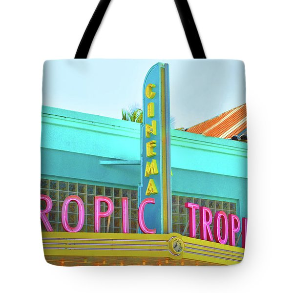 Tote Bag featuring the photograph Tropic Cinema Deco by Jost Houk