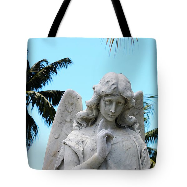 Tropical Angel With Tear Tote Bag