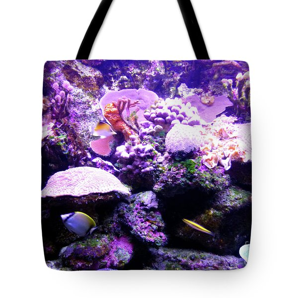 Tote Bag featuring the photograph Tropical Aquarium by Francesca Mackenney