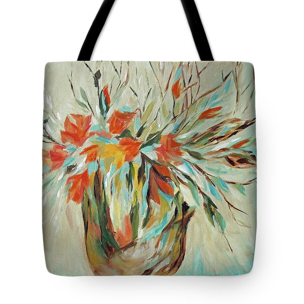 Tote Bag featuring the painting Tropical Arrangement by Joanne Smoley