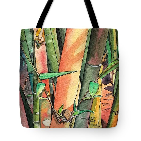 Tropical Bamboo Tote Bag by Marionette Taboniar