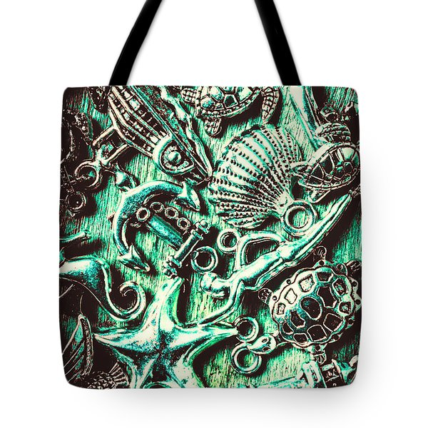 Tropical Bay Elements Tote Bag