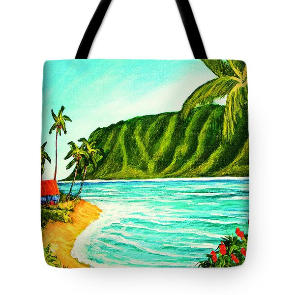 Tropical Beach #361 Tote Bag by Donald k Hall