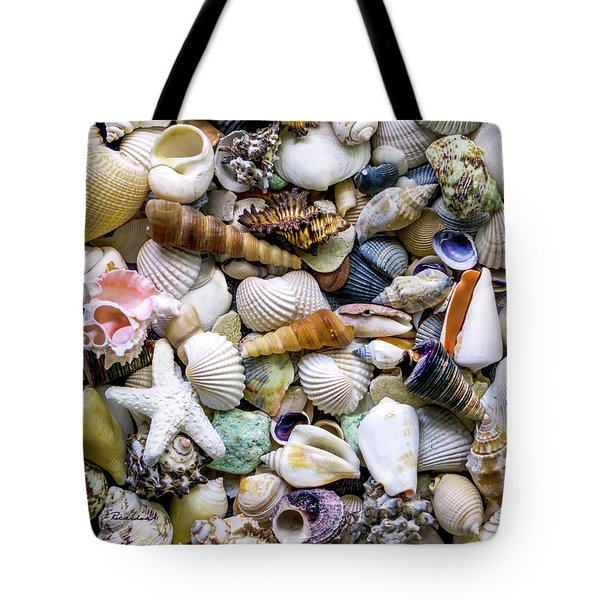 Tropical Beach Seashell Treasures 1500a Tote Bag