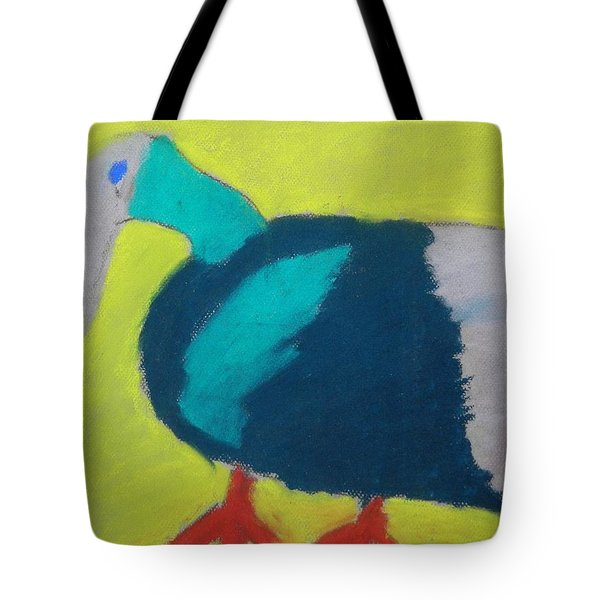 Tote Bag featuring the pastel Tropical Bird by Artists With Autism Inc