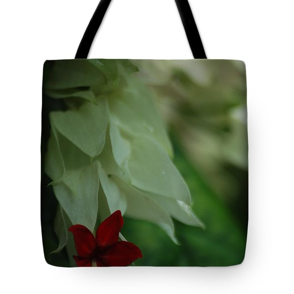 Tote Bag featuring the photograph Tropical Bleeding Heart by Ramona Whiteaker