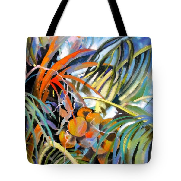Tote Bag featuring the painting Tropical Confusion by Rae Andrews