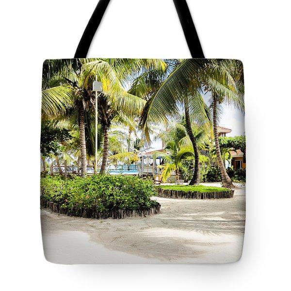 Tropical Courtyard Tote Bag