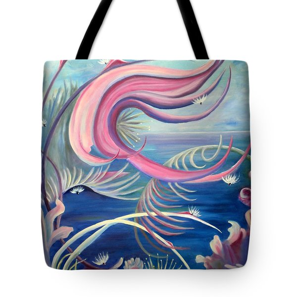 Tote Bag featuring the painting Tropical Dancer by Renate Nadi Wesley