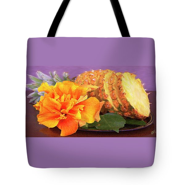 Tote Bag featuring the photograph Tropical Delight Still Life by Ben and Raisa Gertsberg