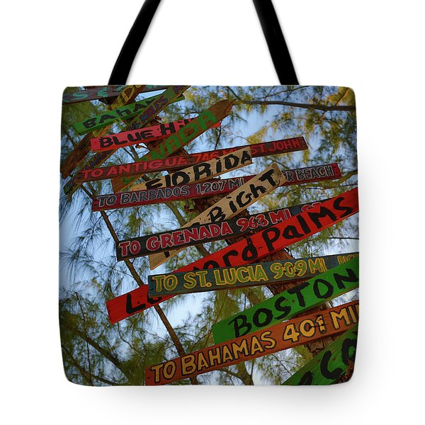 Tropical Directions Tote Bag