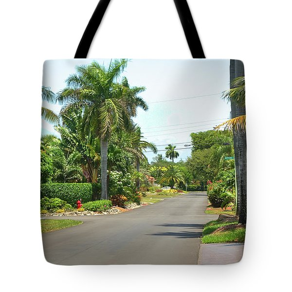 Tropical Feel Residential Street Tote Bag