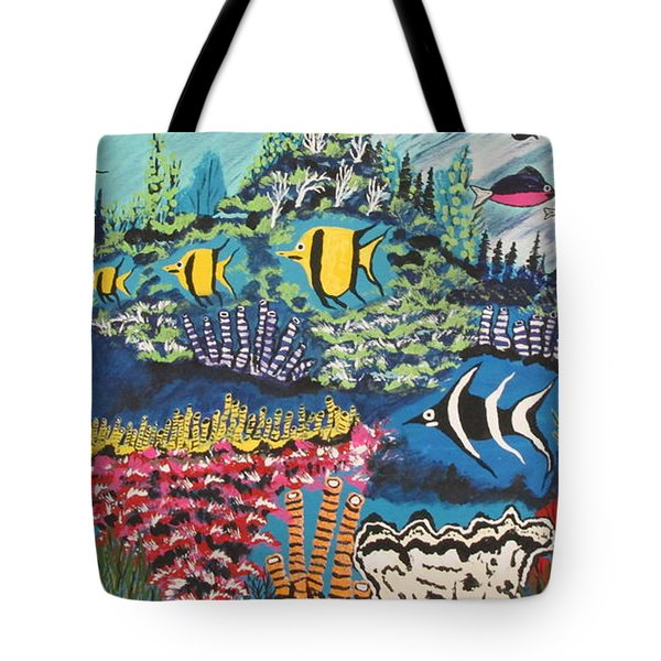 Tropical Fish Colors Tote Bag by Jeffrey Koss