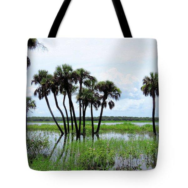 Tropical Flooding Tote Bag by Rosalie Scanlon