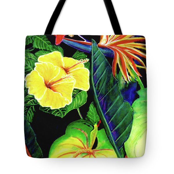 Tropical Flower Arrangement #251 Tote Bag by Donald k Hall