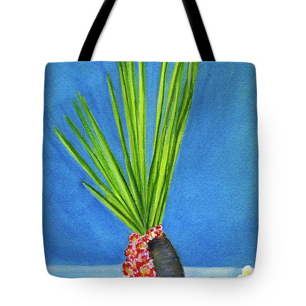 Tropical Flowers Still Life #218 Tote Bag by Donald k Hall