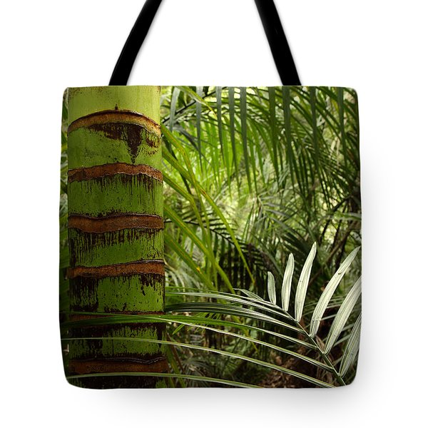 Tropical Forest Jungle Tote Bag by Les Cunliffe