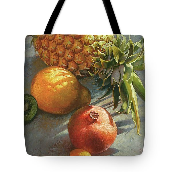 tropical Fruit Large Tote Bag
