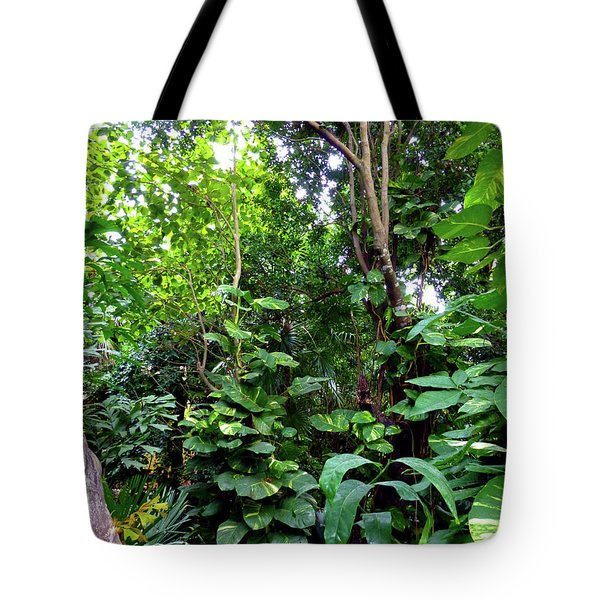 Tote Bag featuring the photograph Tropical Garden by Francesca Mackenney