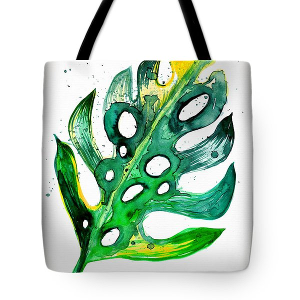 Tropical Greenery - Philodendron Leaf Tote Bag