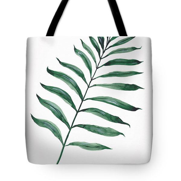 Tropical Greenery - Palm Tree Leaf Tote Bag