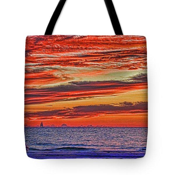 Tropical Gulf Nights Tote Bag