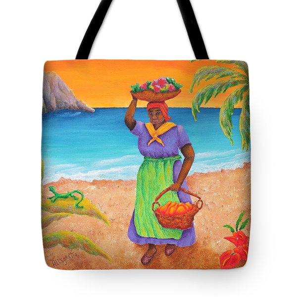 Tropical Harvest Tote Bag by Pamela Allegretto