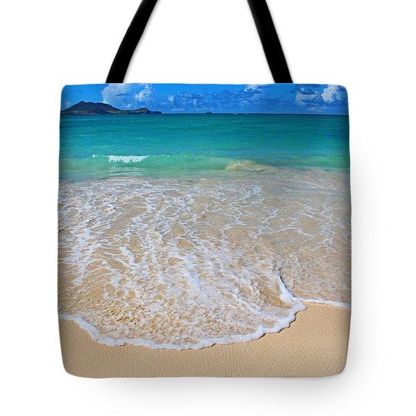 Tropical Hawaiian Shore Tote Bag