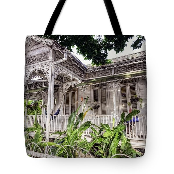 Tropical House Tote Bag