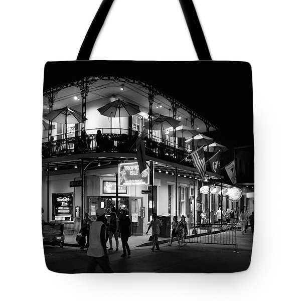 Tropical Isle Bourbon In Black And White Tote Bag