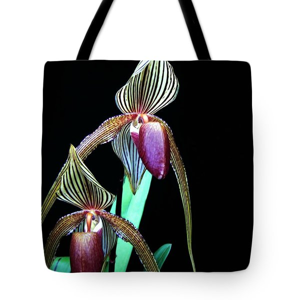 Tropical Lady Slipper Tote Bag by Shirley Sirois