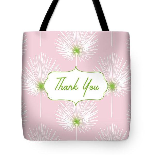 Tropical Leaf Thank You- Art By Linda Woods Tote Bag