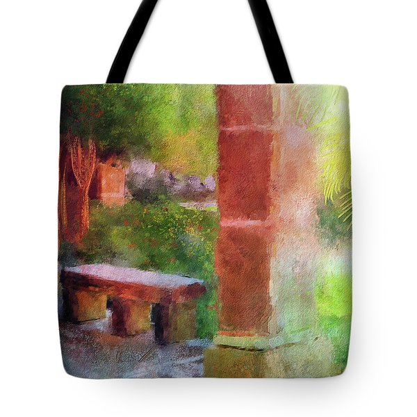 Tote Bag featuring the digital art Tropical Memories by Lois Bryan