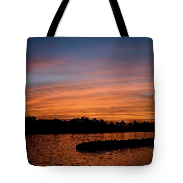 Tote Bag featuring the photograph Tropical Moon by Laura Fasulo