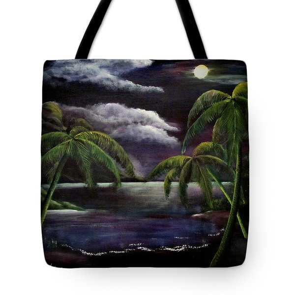 Tropical Moonlight Tote Bag by Luis F Rodriguez