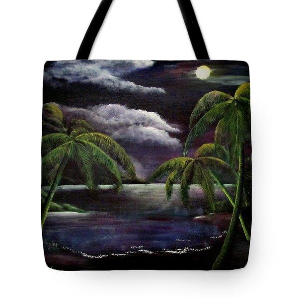Tropical Moonlight Tote Bag