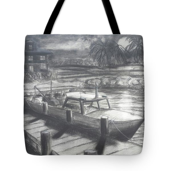 Tropical Moonrise Tote Bag