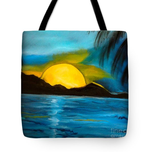 Tropical Moonshine Tote Bag by Jenny Lee