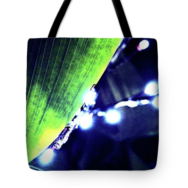 Tote Bag featuring the digital art Tropical Night by Mindy Newman