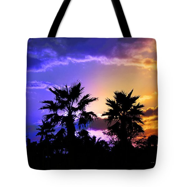 Tote Bag featuring the photograph Tropical Nightfall by Francesa Miller