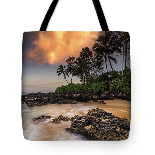 Tropical Nuclear Sunrise Tote Bag