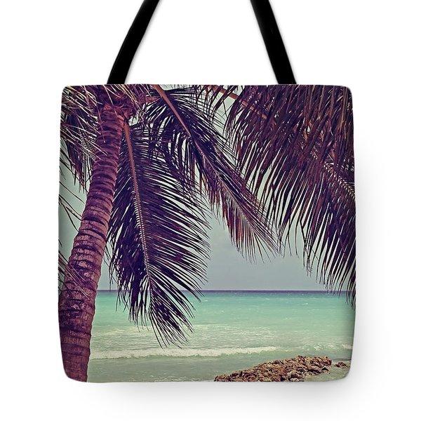 Tropical Ocean View Tote Bag