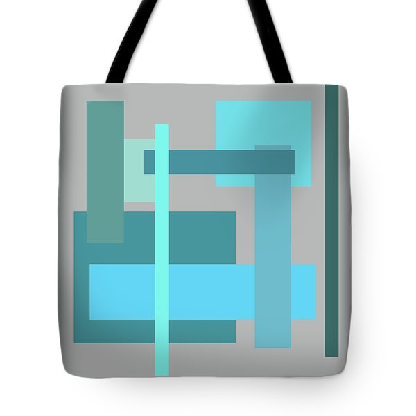 Tropical Oceans Square Abstract Tote Bag